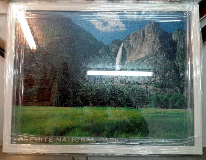 מסגור פאזל של פארק יוסמיטי במדינת קליפורניה - ארצות הברית