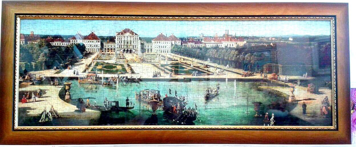 מסגרת לפאזל של ארמון נימפנבורג במינכן, גרמניה. שימש כבית קיץ לאנשי הממלכה בבאווריה משנת 1675 לספירה.