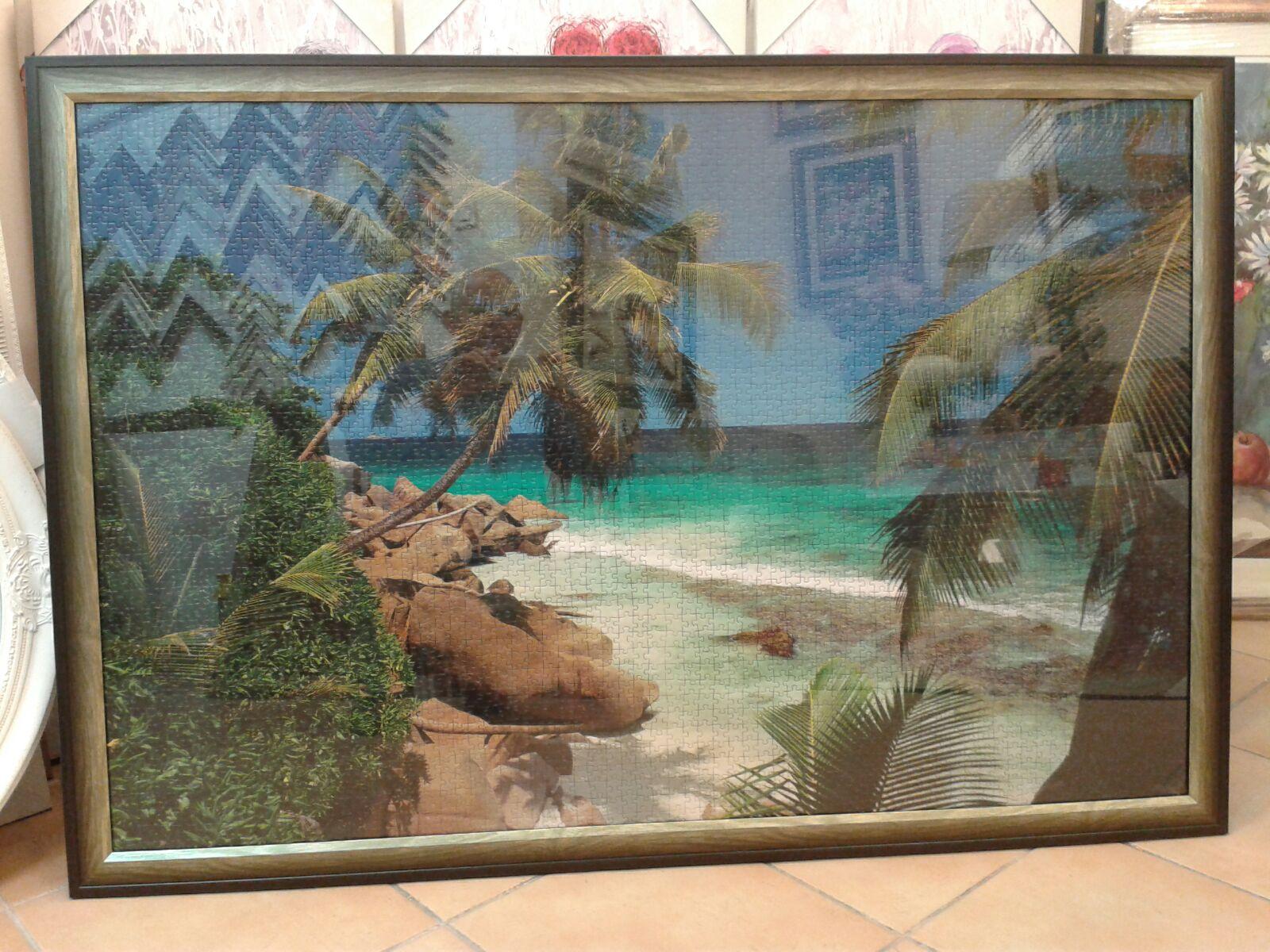 מסגרת לפאזל חוף קאריבי התאמה של המסגרת לנופים בפאזל