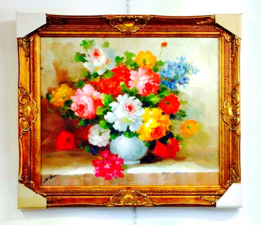 ציורי שמן פרחים (3)