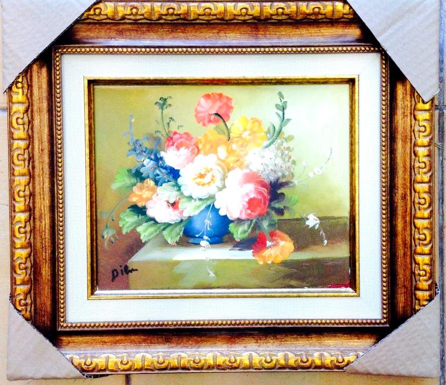 ציורי שמן פרחים צבעוניים