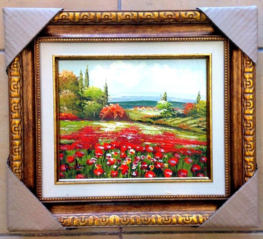 ציורי שמן פרחים בשדה החופשי