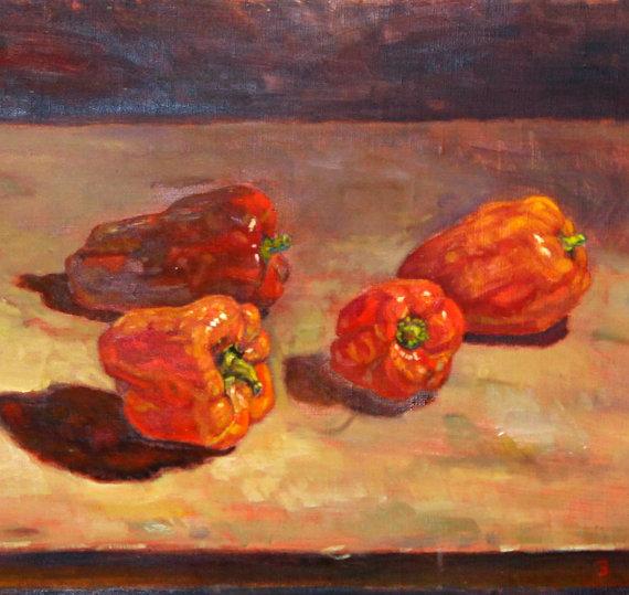 """""""פלפלים אדומים"""" - אומנות מקורית מידי רונן אור ז""""ל"""