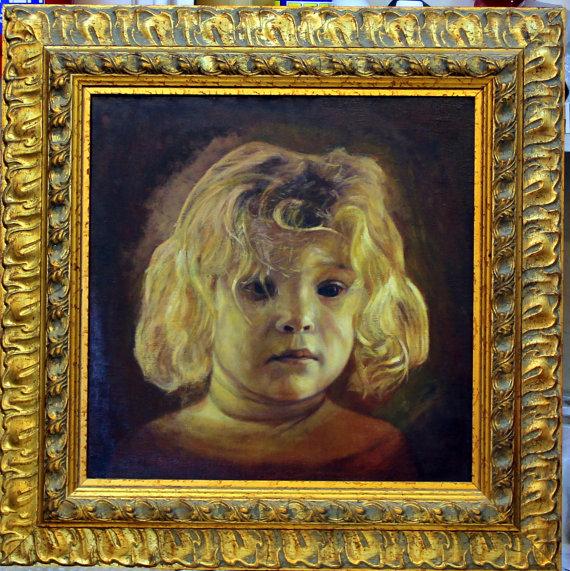 """""""ילדה יהודיה"""" ציור שמן בידי רונן אור"""