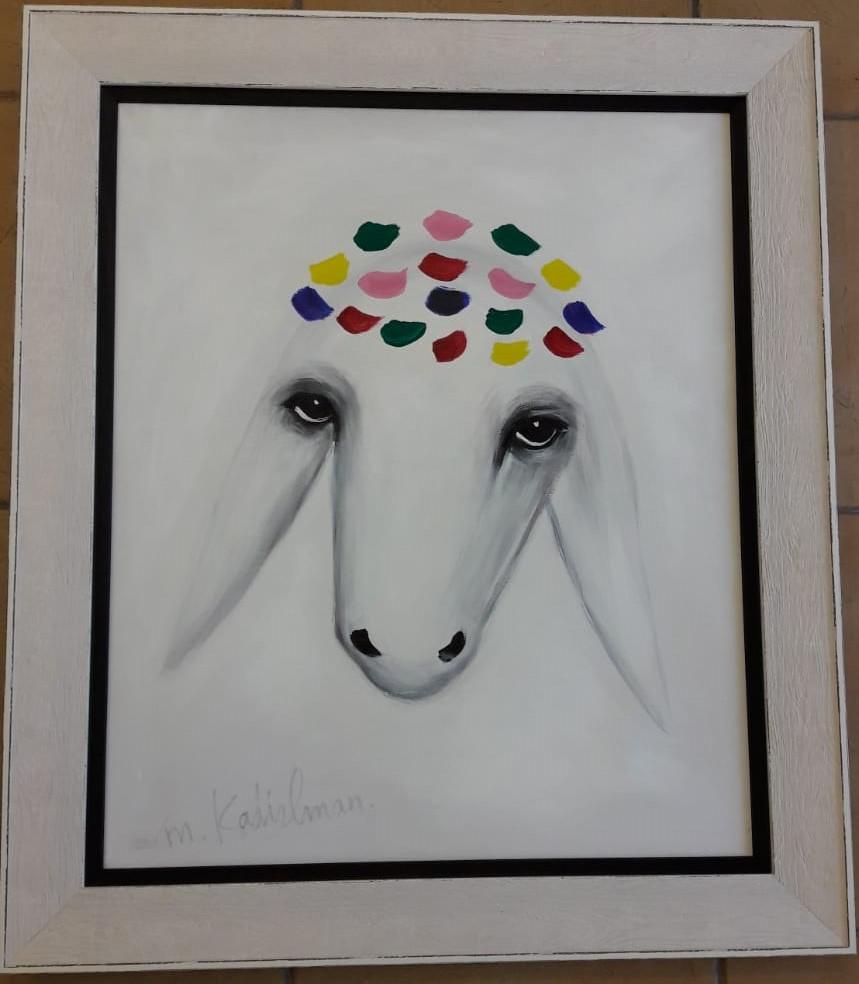 מסגרת לציור שמן של האמן מנשה קדישמן